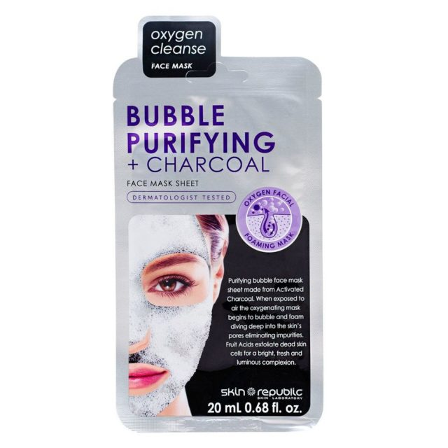 Skin Republic- Bubble Purifying + Charcoal Face Mask innehåller PFAS: Methyl Perfluorobutyl Ether och Methyl Perfluoroisobutyl Ether